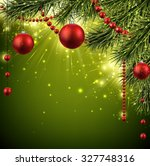 christmas background with fir... | Shutterstock .eps vector #327748316