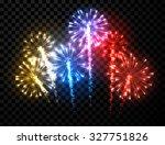 festive color firework... | Shutterstock .eps vector #327751826
