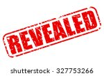 revealed red stamp text on white | Shutterstock .eps vector #327753266
