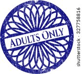 adults only rubber seal | Shutterstock .eps vector #327758816