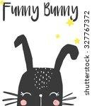 cute bunny illustration for... | Shutterstock .eps vector #327767372