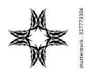 tribal tattoo vector design... | Shutterstock .eps vector #327773306