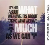 inspirational typographic quote ... | Shutterstock . vector #327774638