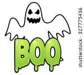 cartoon illustration of a ghost ... | Shutterstock .eps vector #327775436