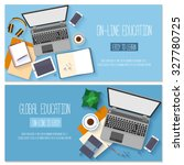 flat design banners for online... | Shutterstock .eps vector #327780725