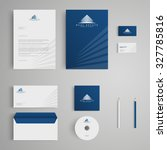 stationery template with real... | Shutterstock .eps vector #327785816