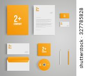 stationery template with logo.... | Shutterstock .eps vector #327785828