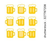 vector pint tankards... | Shutterstock .eps vector #327787208