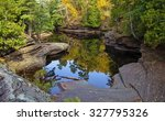 autumn reflections. fall colors ... | Shutterstock . vector #327795326
