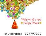 vector illustration of floral... | Shutterstock .eps vector #327797372