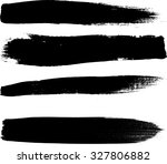 grunge paint stripe . vector... | Shutterstock .eps vector #327806882