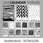 calendar 2016. vector design... | Shutterstock .eps vector #327811235