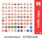 set of traffic signs | Shutterstock .eps vector #327824168