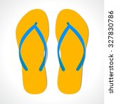 beach slipper | Shutterstock .eps vector #327830786