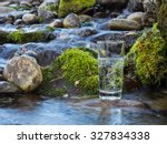 mineral water in a glass | Shutterstock . vector #327834338