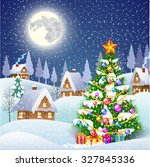 new year and christmas winter... | Shutterstock .eps vector #327845336