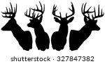 Deer Silhouette With Antlers