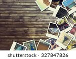 frame with old photographs of... | Shutterstock . vector #327847826