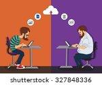web development technology.... | Shutterstock .eps vector #327848336