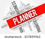 planner word cloud business... | Shutterstock .eps vector #327859562