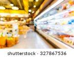 abstract blurred supermarket ... | Shutterstock . vector #327867536