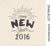 handmade style greetings card   ... | Shutterstock .eps vector #327878942