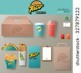 vector tacos corporate identity ... | Shutterstock .eps vector #327879122