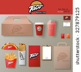 vector tacos corporate identity ... | Shutterstock .eps vector #327879125
