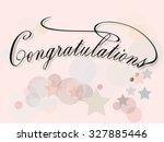 congratulations banner. vector. ... | Shutterstock .eps vector #327885446