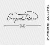 congratulations banner. vector. ... | Shutterstock .eps vector #327885458