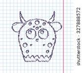 vector hand drawn sketch... | Shutterstock .eps vector #327888572