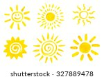 set of hand drawn sun icons. | Shutterstock . vector #327889478