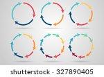 vector circle arrows for... | Shutterstock .eps vector #327890405