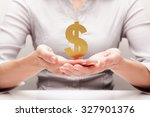 dollar in the hands  concept    Shutterstock . vector #327901376