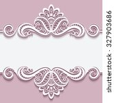 elegant cutout paper frame with ... | Shutterstock .eps vector #327903686