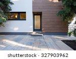 modern house entrance | Shutterstock . vector #327903962