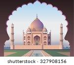 Taj Mahal Through The Window