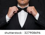 close up of a gentleman wearing ... | Shutterstock . vector #327908696