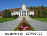 the state capitol building in... | Shutterstock . vector #327909722