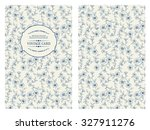 Label Card With Flower Pattern...