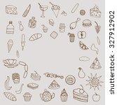 monochrome hand drawn doodle... | Shutterstock . vector #327912902
