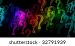 rainbow question marks on a... | Shutterstock . vector #32791939