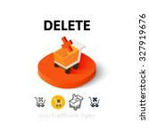 delete icon  vector symbol in...