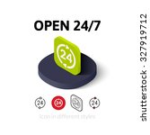 open 27 7 icon  vector symbol...