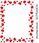 red hearts border for... | Shutterstock . vector #327924476