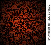 halloween background. vector... | Shutterstock .eps vector #327924632