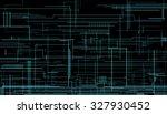 technical background on a dark... | Shutterstock .eps vector #327930452
