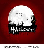 halloween background poster on... | Shutterstock . vector #327941642