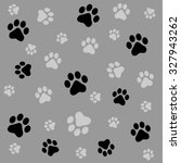 dog paw prints seamless pattern ... | Shutterstock . vector #327943262