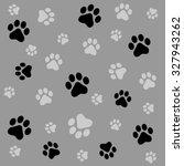 dog paw prints seamless pattern ... | Shutterstock . vector #327943262